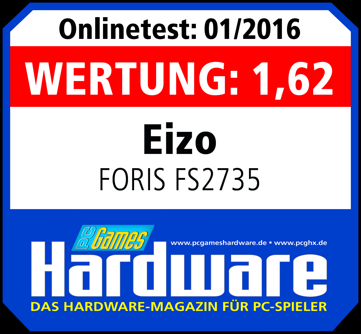 "01/2016 | PCgames Hardware - Note ""1,62"""