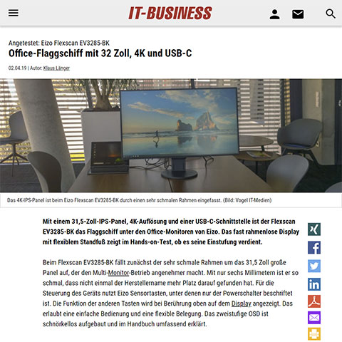 04/2019 | IT-Business – Office-Flaggschiff mit 32-Zoll, 4K und USB-C
